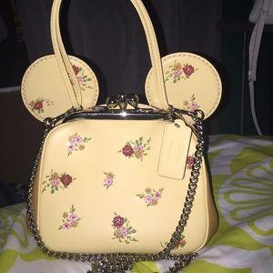 Coach Minnie Mouse Vanilla Kiosk Bag